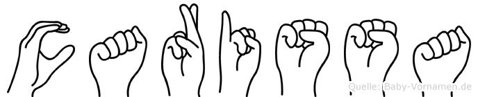 Carissa in Fingersprache für Gehörlose