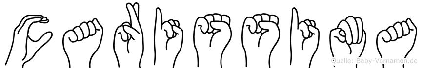 Carissima im Fingeralphabet der Deutschen Gebärdensprache