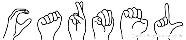 Carmel im Fingeralphabet der Deutschen Gebärdensprache