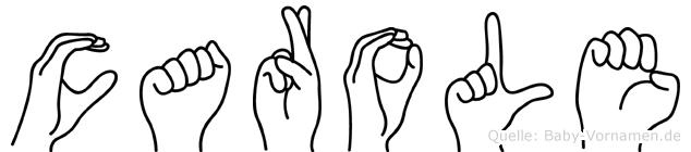Carole in Fingersprache für Gehörlose
