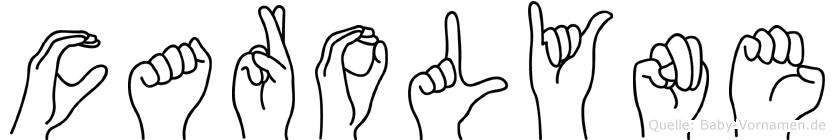 Carolyne in Fingersprache für Gehörlose