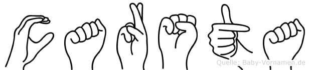 Carsta in Fingersprache für Gehörlose