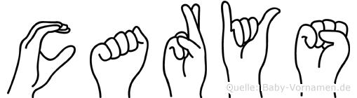 Carys im Fingeralphabet der Deutschen Gebärdensprache