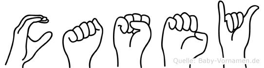 Casey in Fingersprache für Gehörlose