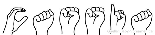 Cassia in Fingersprache für Gehörlose