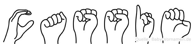 Cassie im Fingeralphabet der Deutschen Gebärdensprache