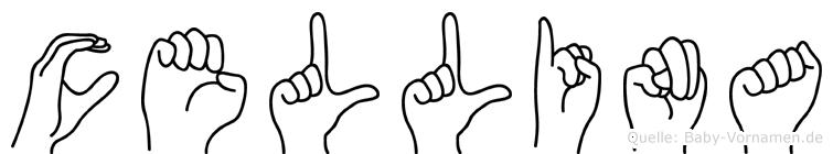 Cellina im Fingeralphabet der Deutschen Gebärdensprache