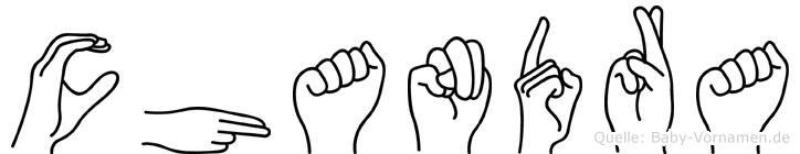 Chandra in Fingersprache für Gehörlose