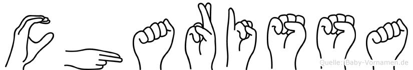 Charissa im Fingeralphabet der Deutschen Gebärdensprache