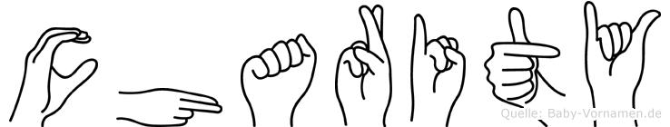 Charity in Fingersprache für Gehörlose