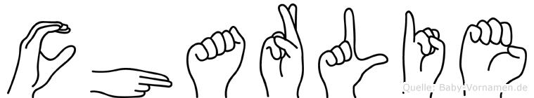 Charlie im Fingeralphabet der Deutschen Gebärdensprache