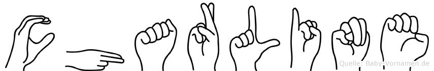 Charline im Fingeralphabet der Deutschen Gebärdensprache
