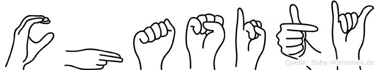 Chasity im Fingeralphabet der Deutschen Gebärdensprache