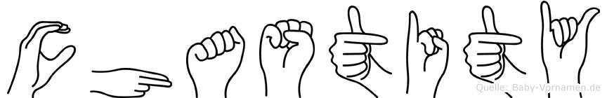 Chastity in Fingersprache für Gehörlose