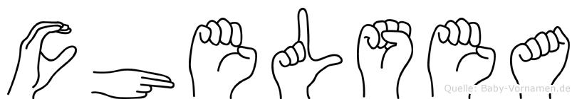 Chelsea in Fingersprache für Gehörlose