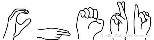 Cheri im Fingeralphabet der Deutschen Gebärdensprache