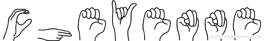 Cheyenne in Fingersprache für Gehörlose