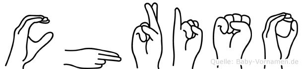 Chriso in Fingersprache für Gehörlose