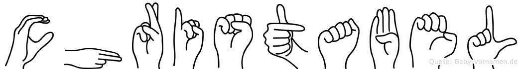 Christabel in Fingersprache für Gehörlose