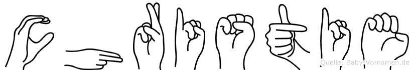 Christie in Fingersprache für Gehörlose