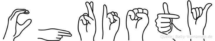 Christy in Fingersprache für Gehörlose