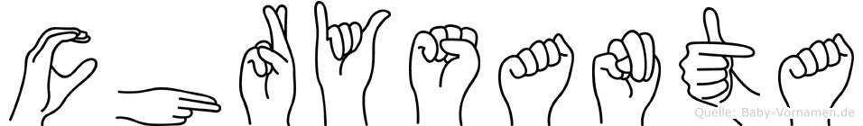 Chrysanta in Fingersprache für Gehörlose
