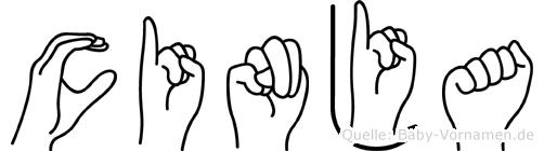 Cinja in Fingersprache für Gehörlose