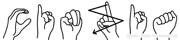 Cinzia im Fingeralphabet der Deutschen Gebärdensprache