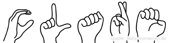 Clare in Fingersprache für Gehörlose