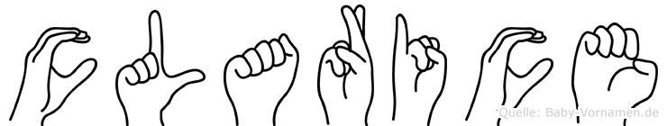 Clarice in Fingersprache für Gehörlose