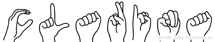 Clarina im Fingeralphabet der Deutschen Gebärdensprache