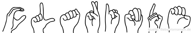 Clarinde in Fingersprache für Gehörlose