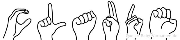 Claude in Fingersprache für Gehörlose