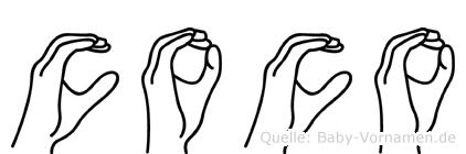 Coco in Fingersprache für Gehörlose