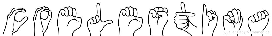 Coelestina im Fingeralphabet der Deutschen Gebärdensprache