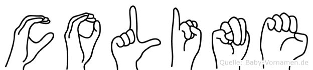 Coline im Fingeralphabet der Deutschen Gebärdensprache