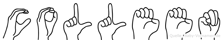 Colleen im Fingeralphabet der Deutschen Gebärdensprache