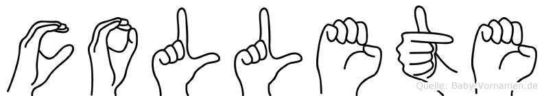 Collete im Fingeralphabet der Deutschen Gebärdensprache