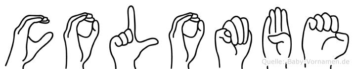 Colombe in Fingersprache für Gehörlose