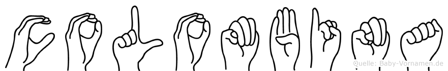 Colombina im Fingeralphabet der Deutschen Gebärdensprache