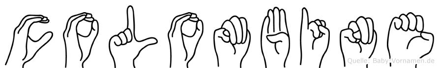 Colombine im Fingeralphabet der Deutschen Gebärdensprache