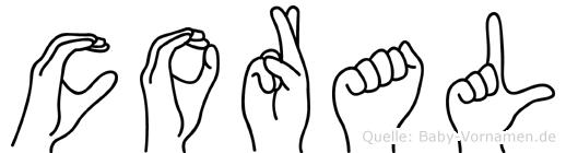 Coral in Fingersprache für Gehörlose
