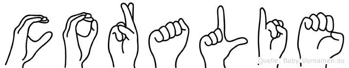 Coralie in Fingersprache für Gehörlose
