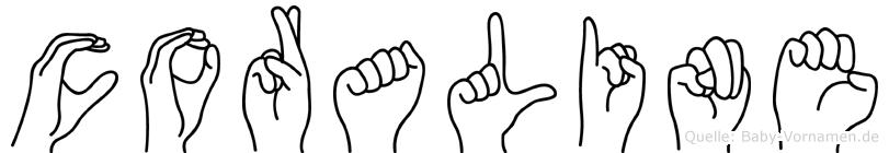 Coraline in Fingersprache für Gehörlose