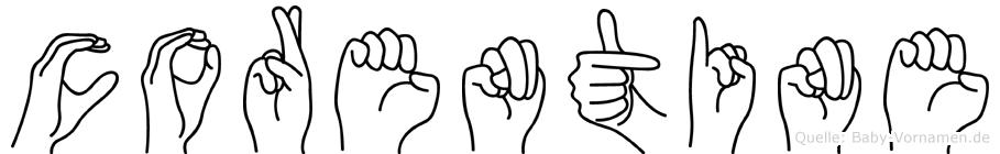 Corentine in Fingersprache für Gehörlose