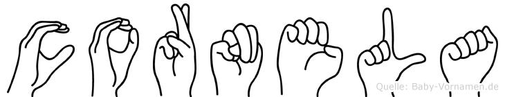 Cornela in Fingersprache für Gehörlose