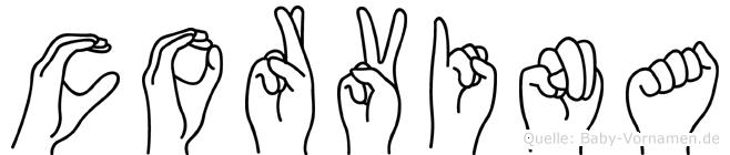 Corvina in Fingersprache für Gehörlose