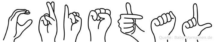 Cristal in Fingersprache für Gehörlose