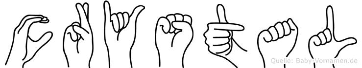 Crystal im Fingeralphabet der Deutschen Gebärdensprache