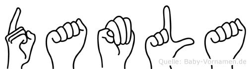 Damla im Fingeralphabet der Deutschen Gebärdensprache